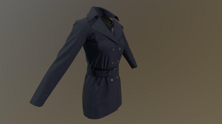 Female Overcoat 3D Model