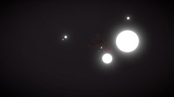 chaoticGlowScene 3D Model