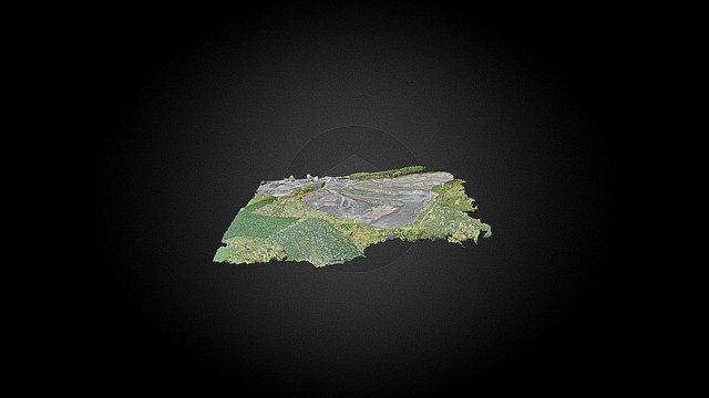 Stone Quarry 3D Map 3D Model