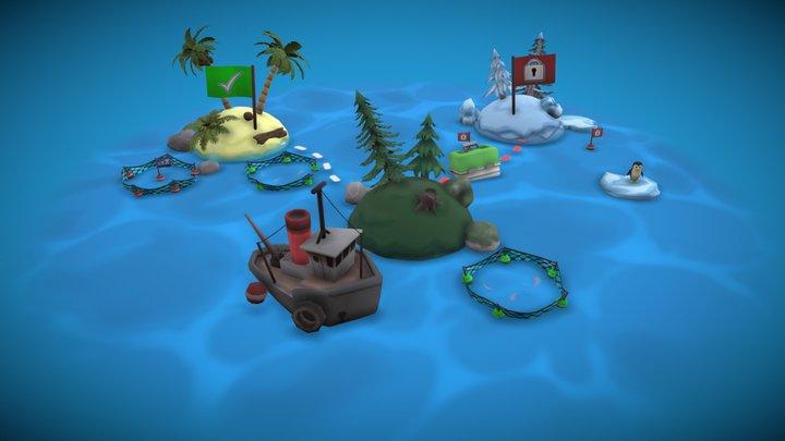 Fishalot Diorama 3D Model