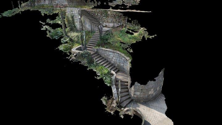 2017-07 - Santiago - Santa Lucia Hill 2 3D Model