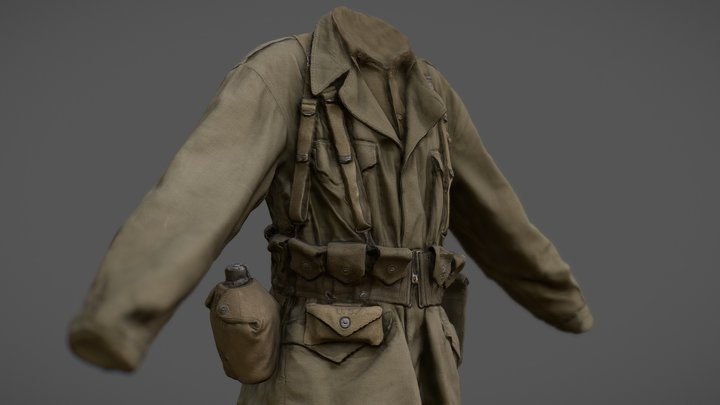 American Uniform WW2 3D Model