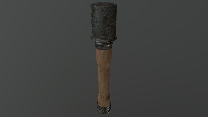 German Grenade (Stielhandgranate) 3D Model