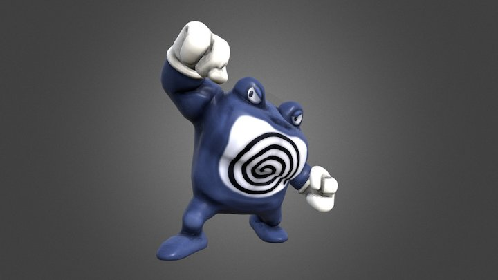 Poliwrath - Pokémon 062 3D Model