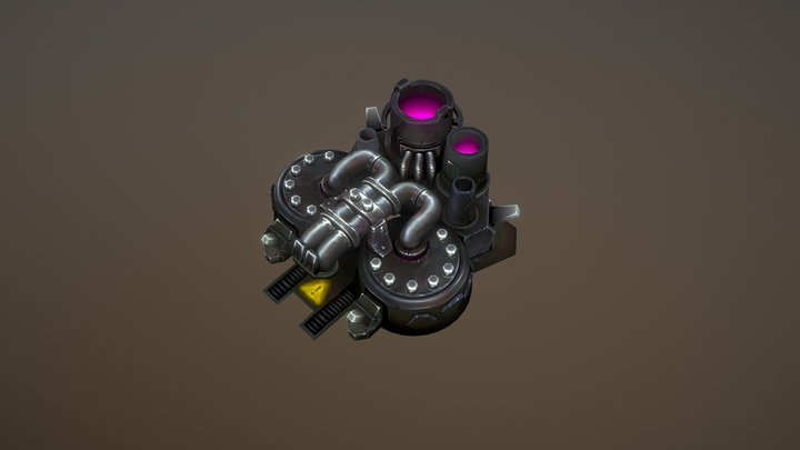 Refinery for rts game 3D Model
