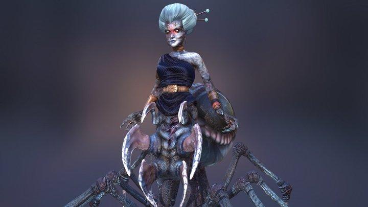 MythCreature Round 2: Arachne 3D Model