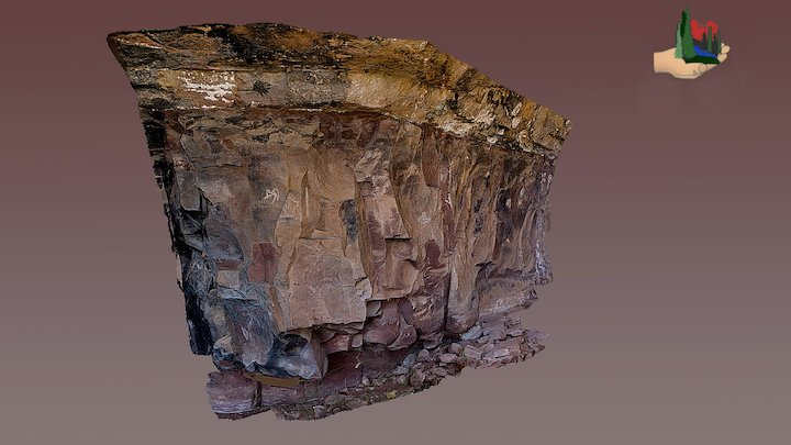FS0409 Palatki Grotto Panels 6 & 7 3D Model