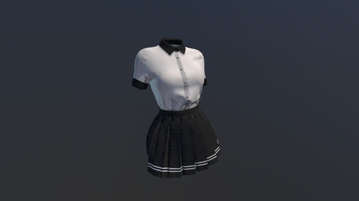 Japanese School Uniform 3D Model