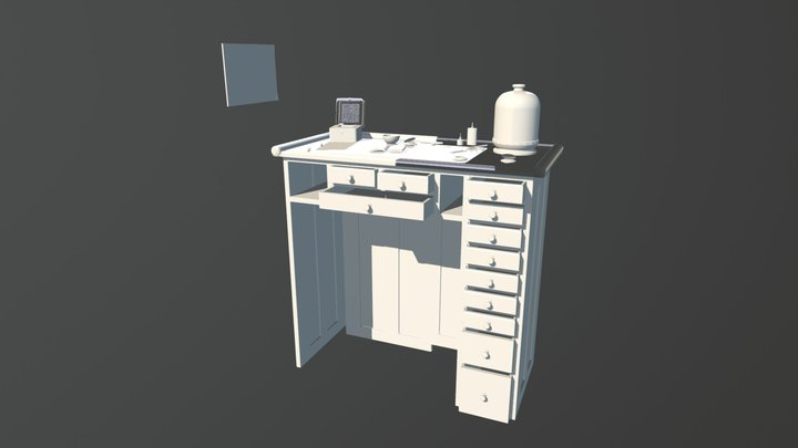Antique Watch Makers Room AIE February 2017 3D Model