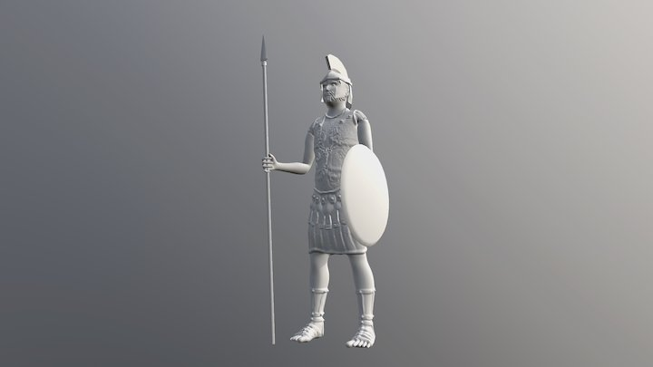 Roman Soldier sculpture 3D Model