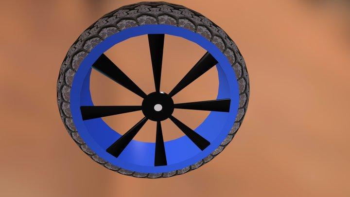 bad quality tire 3D Model