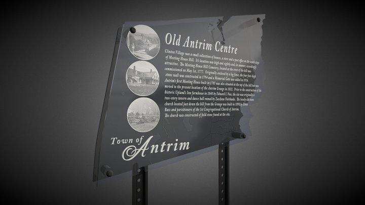 Antrim Sign 3D Model