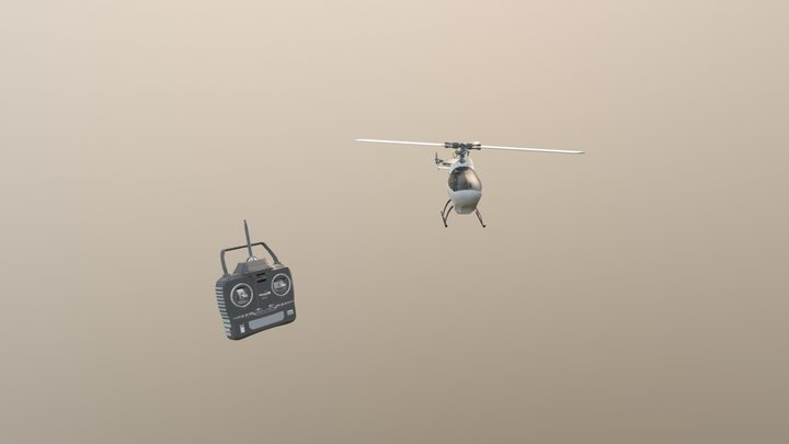 RC-Helicopter 3D Model
