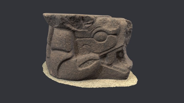 Crab-shaped seat from Palo Verde, Guatemala 3D Model