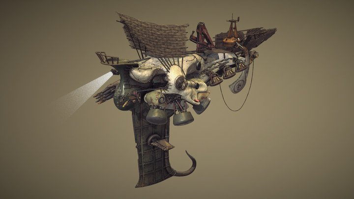 'The Fat Swallow' - Ship of the Monju Hunter 3D Model