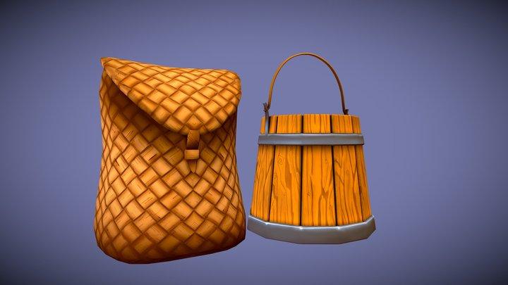Backpack Bucket Wip 3D Model