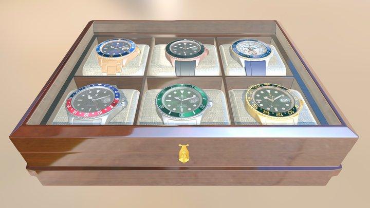 Exclusive Rolex Watchbox 3D Model