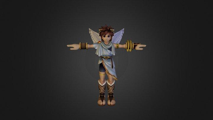 Wii - Super Smash Bros Brawl - Pit 3D Model