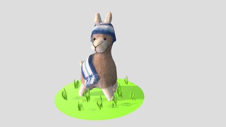 Knitted lama - photogrammetry 3D Model