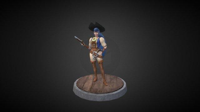 Beat Em Up Pirates Jess 3D Model