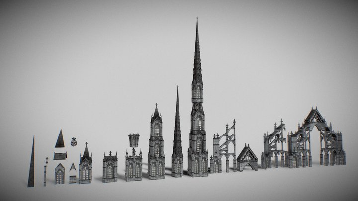 Gothic Building For Aria Pack 1.0 3D Model