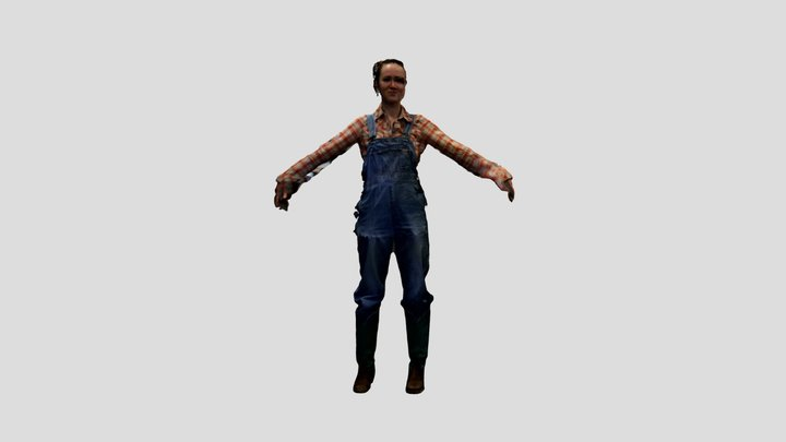 Full body ella2 3D Model