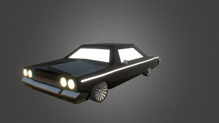 Chevrolet (Chevy) Impala 1963 black sedan 3D Model