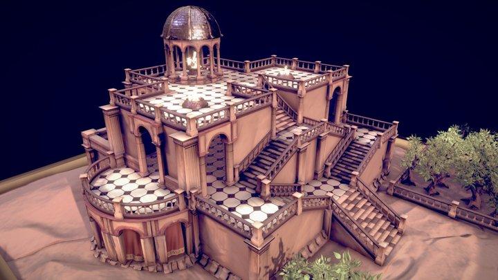 Temple Environment 3D Model