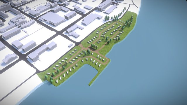 Stadscamping Haparanda 3D Model