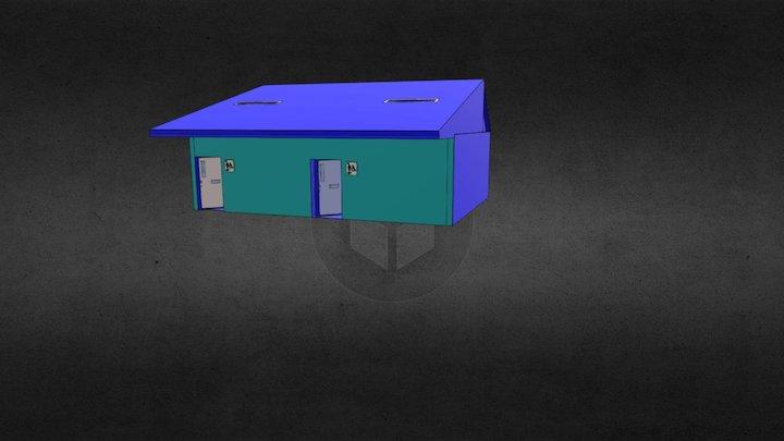 WC modules 3D Model