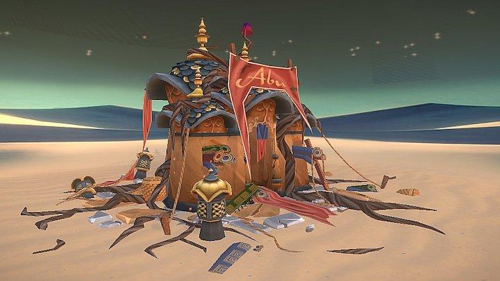 Abu's Desolated carpet bazaar 3D Model