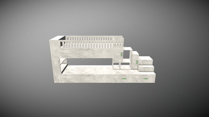 The bed for childroom 3D Model