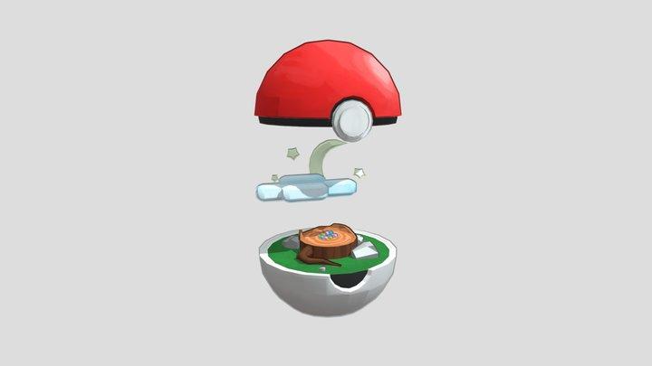 Pokeball Environment 3D Model