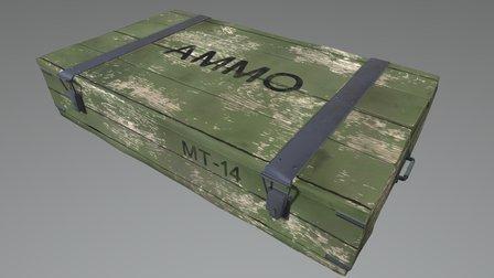 Ammo Crate PBR 3D Model