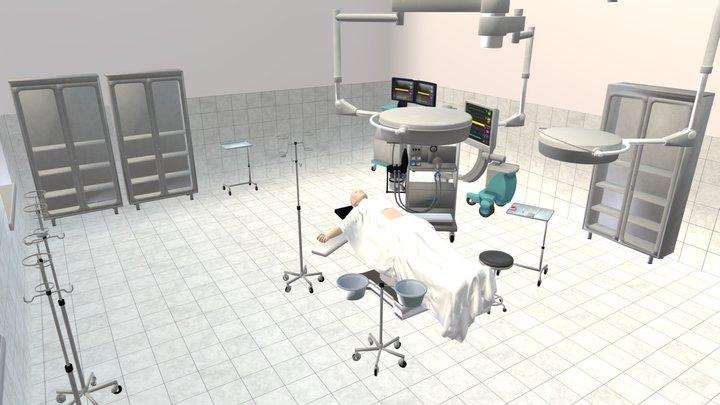 Clinic - Operating room 3D Model