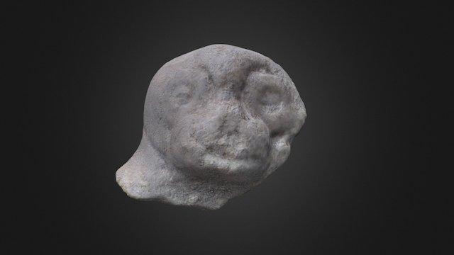 Soporte cabeza de mono / Monkey head support 3D Model