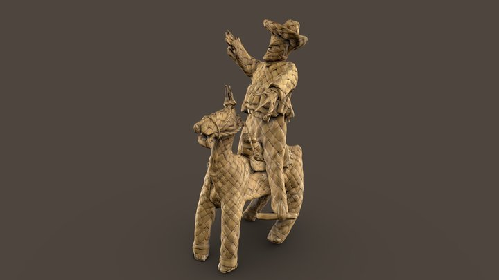 """Всадник на коне (Чарро)"""". Мексика, 1920-е. 3D Model"""