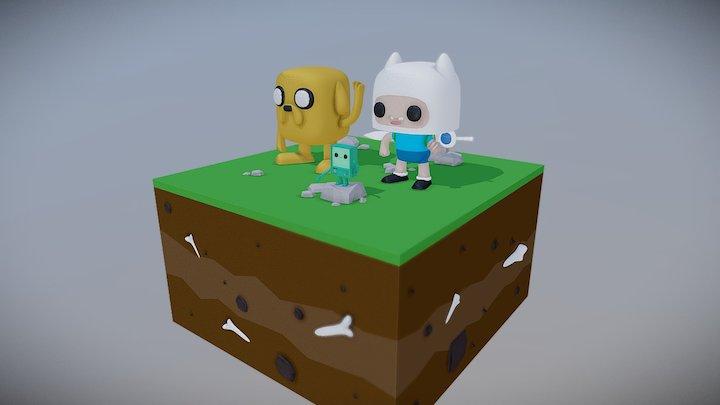 Finn And Jack 3D Model