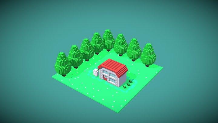 Ash House 3D Model