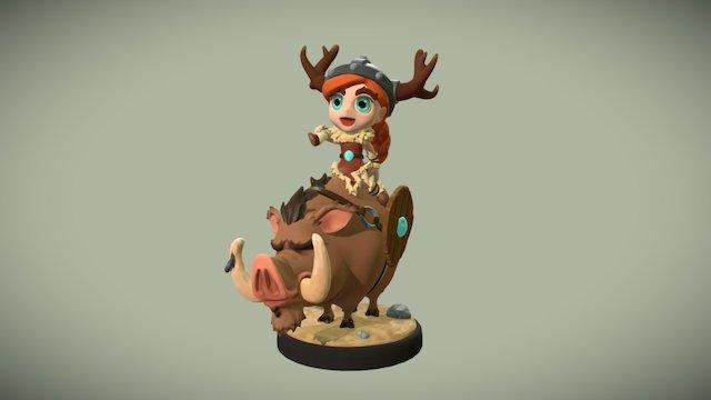 Burstie 3D Model