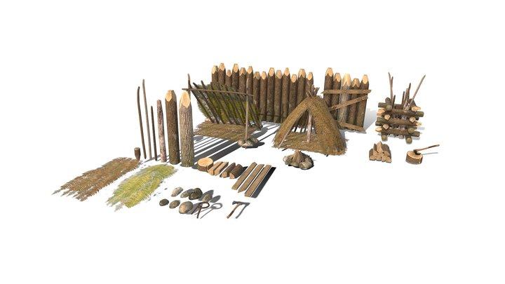 HIE Forest Wood Pack D180326 3D Model