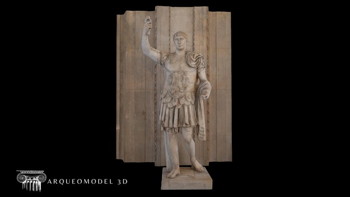 Marcus Ulpius Traianus LOUVRE (PARIS) - HIGHPOLY 3D Model