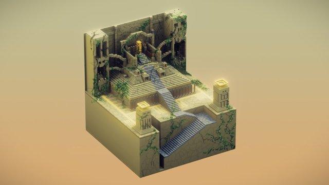 the Altar (MagivaVoxel bake) 3D Model