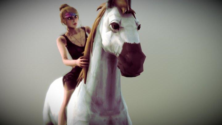 Character & Horse 3D Model