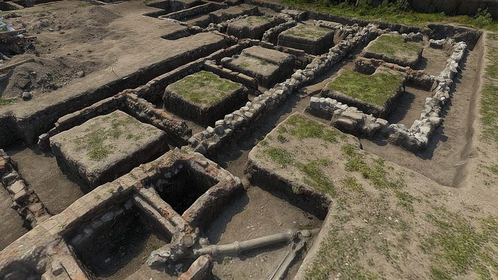 Sitio Arqueológico Huidobro 3D Model