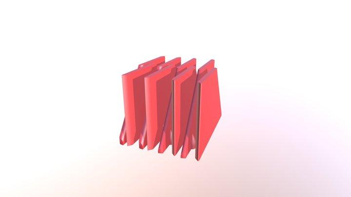 Prism P7 - 4 Left & Right Bottom Dock Walls 3D Model
