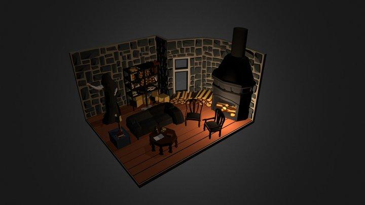 Mansion attic 3D Model