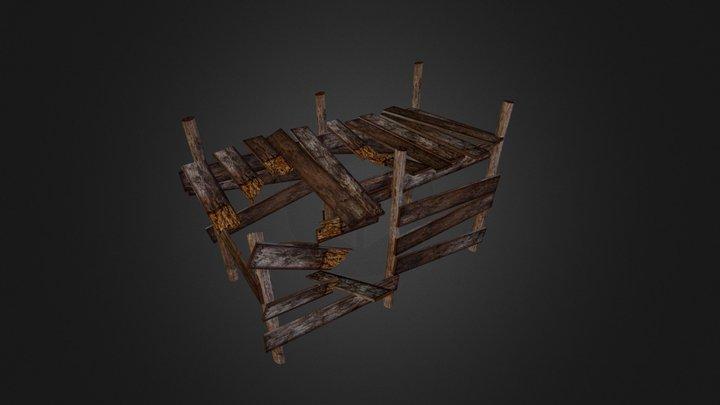 Broken Dock 3D Model