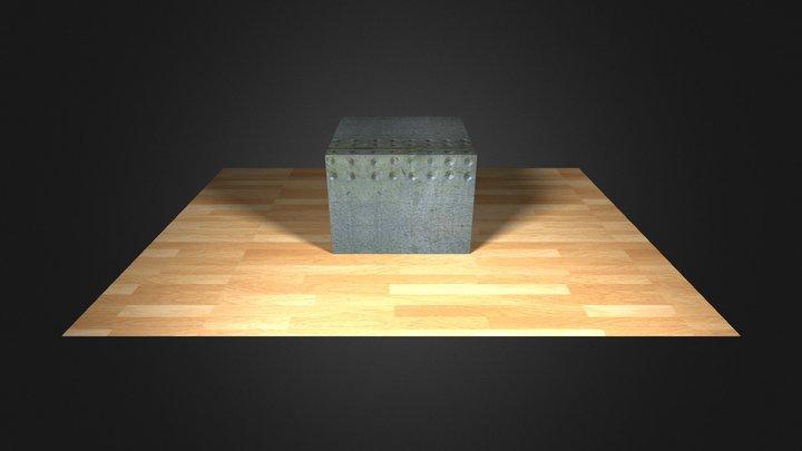 box on floor textured 3D Model