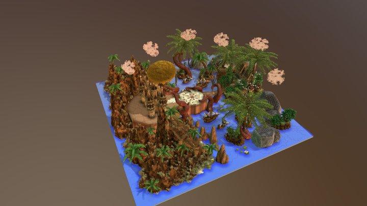 CavePvP Hub 3D Model